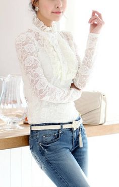 Lace detail, Mango and Lace on Pinterest