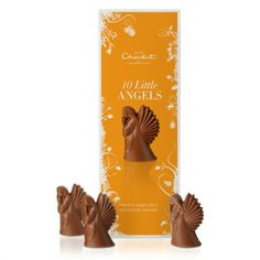 Our ten Little Angels are made from heavenly caramel milk chocolate - a perfect little Christmas gift for kids & adults alike. #hotelchocolat #hcdreamhamper