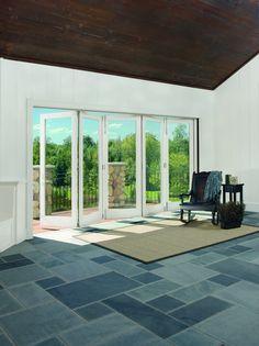 Bi-Fold Doors by Marvin Windows Marvin Doors, Marvin Windows, Installing Replacement Windows, Window Replacement, Concertina Doors, Energy Efficient Windows, Door Displays, Pool Cabana, Entrance Gates