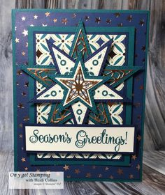 Handmade card featuring the So Many Stars stamp set, Stitched Stars dies, and Brightly Gleaming Specialty Designer Series Paper. Christmas Mom, Stampin Up Christmas, Christmas Cards To Make, Christmas Angels, Christmas Themes, Christmas 2019, Tarjetas Stampin Up, Star Cards, Christmas Catalogs