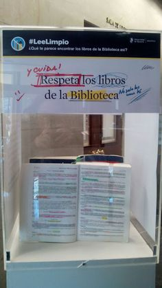 SOY BIBLIOTECARIO: Campaña Lee Limpio