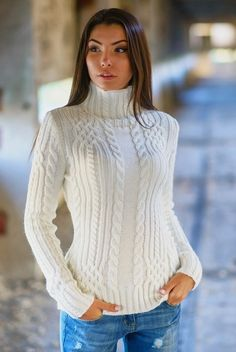 Knitted white sweater Warm winter sweater Autumn Woman sweater White sweater for woman Sweater long sleeve stand collar turtleneck sweater Punto jersey invierno cálido otoño suéter mujer suéter blanco suéter con manga larga White Knit Sweater, Sweater And Shorts, Cable Knit Sweaters, Long Sweaters, Long Sleeve Sweater, Pullover Sweaters, Sweater Cardigan, Striped Sweaters, Oversized Sweaters