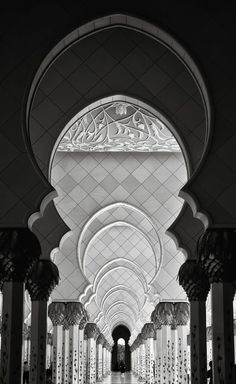 Sheikh Zayed Mosque Arches by Daniel Nahabedian on 500px