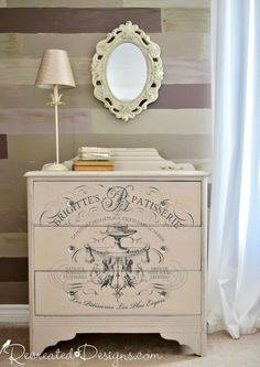 transforming a vintage dresser with and IOD Transfer