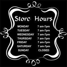 Hours of Operation Sign Business Hours Sign, Business Signs, News Hour, Open Signs, Chalkboard Art, Retail Shop, Shop Signs, Poppy, Signage
