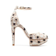 Image 1 of PRINTED PLATFORM SANDALS  WITH ANKLE STRAP from Zara