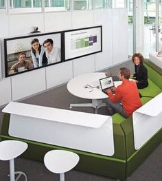 Office Insurance, Modern Office Designs, Home Office Furnitures, Office Decoration: Bank and Office Interiors with Collaboration Space