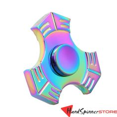 FS322 Rainbow Metal Fidget Spinner Tri-Spinner