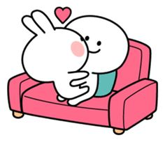 A lot of affection of Spoiled Rabbit. Cute Cartoon Images, Cute Love Pictures, Cute Love Gif, Cute Love Cartoons, Gif Lindos, Memes Lindos, Cute Hug, Cute Bear Drawings, Love Cartoon Couple
