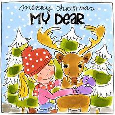 Merry Christmas My Dear - Blond Amsterdam Shabby Chic Christmas, Christmas Deer, Christmas Quotes, Christmas Colors, Christmas And New Year, Christmas Greetings, White Christmas, Merry Christmas, Tarjetas Diy