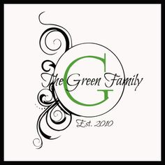 Artsy Family Monogram Wall Decals    good sayings to decal