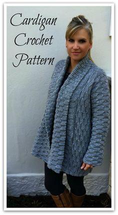 Autumn Leaves Cardigan Crochet Pattern for purchase.Women Open Style No.925 Digital ePattern Instant Download #ad Crochet Coat, Crochet Cardigan Pattern, Crochet Shirt, Crochet Scarves, Crochet Yarn, Easy Crochet, Crochet Clothes, Crochet Patterns, Crochet Sweaters