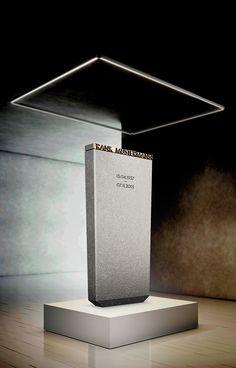 Grabstein Modell Libra | Naturstein Granit Nero Assoluto | Modernes Design by Designwerk Daniel Schnettka