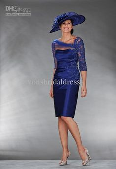Cheap blue mother, Buy Quality mother of bride directly from China mother of bride dress Suppliers: Sexy See Through Corset Royal Blue Mother of the Bride Dresses with Sleeves 2017 Beaded Lace Mother of the Groom Short Gowns Bride Suit, Bride Groom Dress, Groom Outfit, Bride Gowns, Short Mothers Dress, Mothers Dresses, Long Formal Gowns, Formal Evening Dresses, Formal Suits