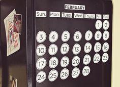 Calendario para el refrigerador