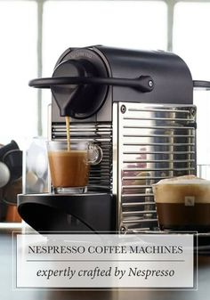 Expertly crafted, Nespresso coffee machines brew the perfect cup of coffee everytime. Whether you're looking to start your day with a latte or a cappuccino, you'll love the indulgent flavors inside each coffee creation.
