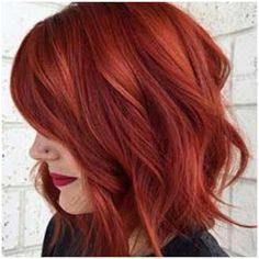 Friday Favorites / Two Plus Luna Red Hair Lob. Friday Favorites / Two Plus Luna – Station Of Colored Hairs Lob Haircut, Lob Hairstyle, Hairstyle Wedding, Hair Wedding, Bridal Hair, Red Hair Lob, Red Hair Makeup, Short Red Hair, Red Copper Hair Color