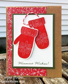 Playing with Paper: Warmest Wishes Christmas Card Using Artiste Cricut Cartridge