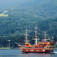 Old ship and new explorations on Lake Ashi in Japan. Photo courtesy of lovingjune on instagram.