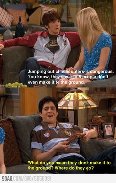 Drake and Josh = one of the few sitcoms that always made me laugh.