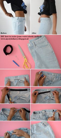 Elastic method of taking in waistband