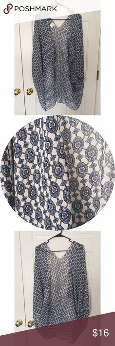 Blue Patterned Kimono Fits all sizesz (Not Brandy) Brandy Melville Other