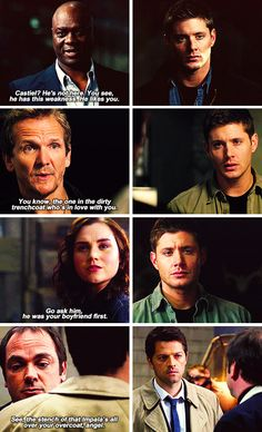 Supernatural. I do love how the show messes with the fandom. I will never ship this but it entertains me.