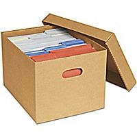 uline economy storage file boxes with lid