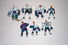 Mighty Ducks Disney Lot of 7 Action Figures Vintage 1990s by nodemo