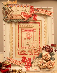 Read more @ http://www.thescrapperinme.blogspot.com !  [This is the season to be jolly]    Yayyie, my altered IKEA old frame!:) HEHE!:)