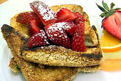 Pain Perdu recipe from $40 a Day via Food Network courtesy from L'Auberge in Sedona AZ ( I've had the honor of eating their, my son and his bride had their Wedding reception held at L'Auberge and it was a spectacular place to go to and a very memorable experience too!)
