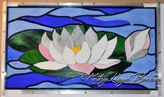 Boehm Stained Glass Blog: Water Lily glass all cut