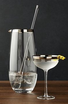 Elevate your home bar with a Pryce Mixing Pitcher and Stirrer. The classically retro yet timelessly shaped pitcher adds sass to the home-crafted cocktails. Home Bar Essentials, Small Bars For Home, Home Bar Accessories, Photos Originales, Home Bar Decor, Liqueur, Diy Décoration, Bar Tools, Cool Bars