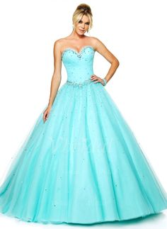 Prom Dresses - $214.52 - Ball-Gown Strapless Sweetheart Floor-Length Tulle Prom Dress With Beading (0185057744)