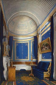 Edward Petrovich Hau   Interiors of the Winter Palace. The Bathroom of Grand Princess Maria Alexandrovna    Russia, 1850s