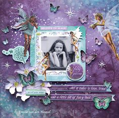 Love and Fairy Dust {Kaisercraft & Merly Impressions} - Scrapbook.com