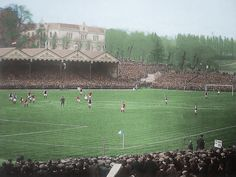 A panoramic view of the FA Cup Final between Burnley and Liverpool at Crystal Palace in 1914 Burnley Fc, Fa Cup Final, Crystal Palace, Liverpool Fc, Finals, Places To Visit, Beautiful, Poster Prints, Football