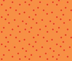 polka-dots-carrot_tomato fabric by heatherrothstyle on Spoonflower - custom fabric