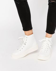 Image 1 of Truffle Collection Flatform Creeper High Top Sneakers