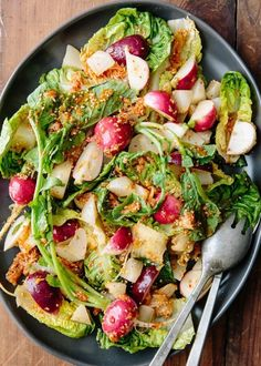 Recipe: April Bloomfield's Steamed and Raw Radish Salad with Kimchi and Sesame