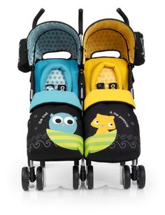 Cosatto twin stroller , just so cute and i love the yellow and blue color of both the seats