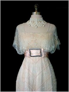 Edwardian lace vintage wedding dress Titanic dress by MonaBocca, $850.00