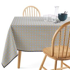 Florene Anti-stain tablecloth LA REDOUTE INTERIEURS A pleasing alliance of practicality and style, this printed tablecloth from our Florene range has been treated with an anti-stain coating to help. Chaise Bar, Human Ecology, Product Label, Wicker, Stains, Contemporary, Prints, Things To Sell, Color