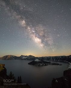 Milky Way Lake  Milky Way over Crater Lake National Park  Camera: Canon EOS 6D…