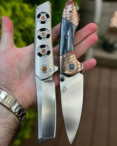 Two beautiful knives that are big and strong!
