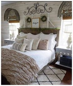 54 Simply Farmhouse Master Bedroom Design Ideas Match For Any Room ideas master rustic shabby chic 54 Simply Farmhouse Master Bedroom Design Ideas Match For Any Room - Trendehouse Farmhouse Bedroom Furniture, Modern Farmhouse Bedroom, Bedroom Furniture Design, Master Bedroom Design, Home Decor Bedroom, Modern Bedroom, Bedroom Ideas, Bedroom Inspiration, Farmhouse Style