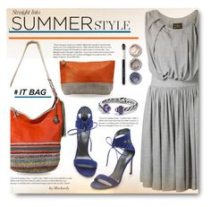 """Summer ""It Bag"""" by beebeely-look ❤ liked on Polyvore featuring Stuart Weitzman, The Sak, Cullen, Vivienne Westwood, Bare Escentuals, Christen Maxwell, David Yurman, women's clothing, women's fashion and women"