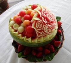 Mother's Day Fruit Carving
