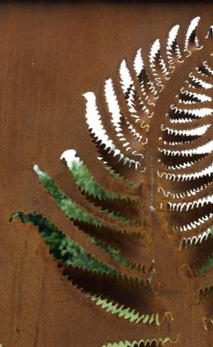 In love with the fern panel made by Neil Lossock.  DRAGON'S FORGE