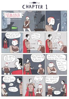 Noelle Stevenson's Nimona is the story of an impetuous, eager, and (most notably) successful villainous sidekick, who is also a shapeshifter. Set during a time of knights and black magic and lancing and people living in tents, Nimona is a silly but thoroughly charming webcomic which has grown impressively in style and content over the space of eight chapters...